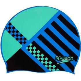 speedo Slogan Bedrukte Badmuts Kinderen, blue/jade/black